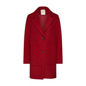EDC BY ESPRIT Přechodný kabát 'Knitted Wool'  červená
