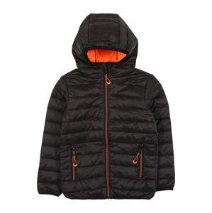 STACCATO Přechodná bunda  svítivě oranžová / černá