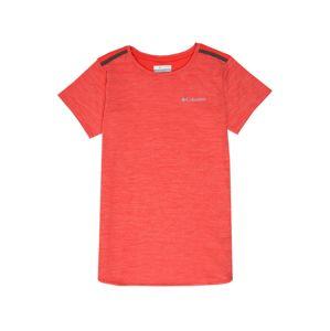 COLUMBIA Funkční tričko 'Tech Trek™'  černá / oranžově červená