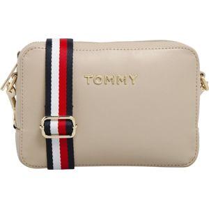 TOMMY HILFIGER Taška přes rameno  béžová / červená / bílá / zlatá / námořnická modř