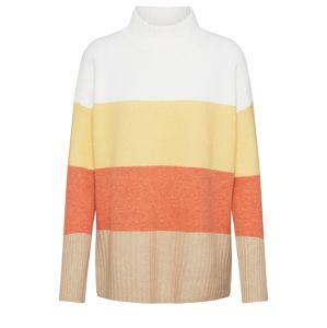 ESPRIT Svetr  žlutá / bílá / oranžová