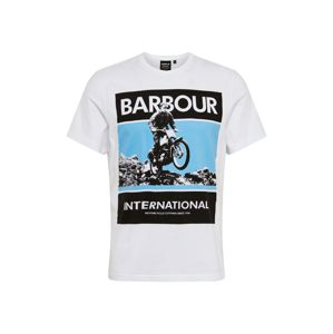 Barbour International Tričko  bílá / mix barev
