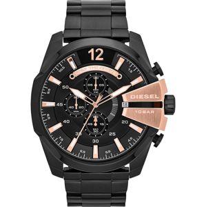 DIESEL Analogové hodinky 'MEGA CHIEF'  starorůžová / černá