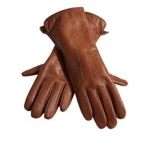 heine Prstové rukavice  koňaková
