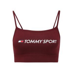Tommy Sport Sportovní podprsenka  bílá / vínově červená