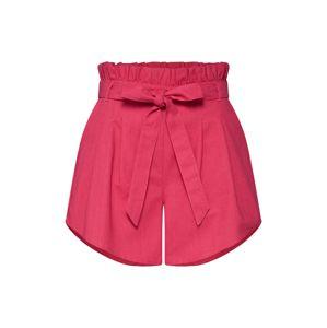 GLAMOROUS Kalhoty se sklady v pase  magenta