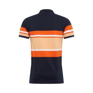 !Solid Tričko 'Jaylon'  tmavě modrá / oranžová / béžová