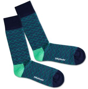 DillySocks Ponožky 'Under Water Lines'  modrá / zelená / černá