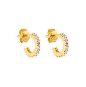 ID Fine Náušnice 'Simplicity Mini Hoops '  zlatá / starorůžová