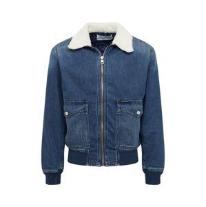Calvin Klein Jeans Přechodná bunda 'WESTERN BOMBER'  modrá džínovina