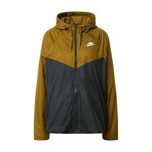 Nike Sportswear Přechodná bunda  černá / olivová