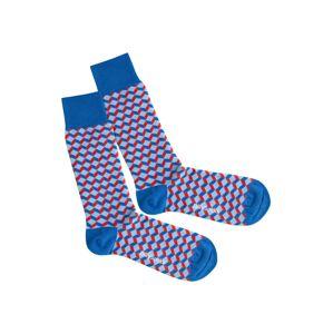DillySocks Ponožky 'Red Sea Dice'  modrá / červená