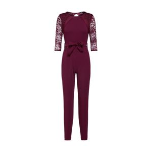 Boohoo Overal 'LACE PANEL'  purpurová