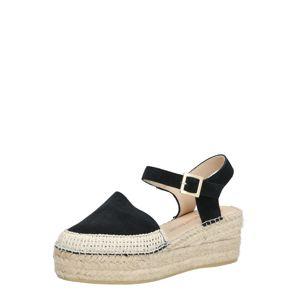MACARENA Sandály 'JAVA2'  černá / béžová