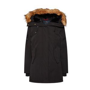 Helvetica Mountain Pioneers Zimní bunda 'Expedition W Raccoon'  černá