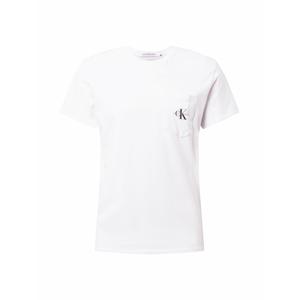 Calvin Klein Jeans Tričko  bílá / černá / šedá