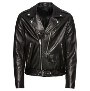 The Kooples Přechodná bunda 'LEATHER JACKET WITH DOUBLE PULLER FRONT AND CENTRE'  černá