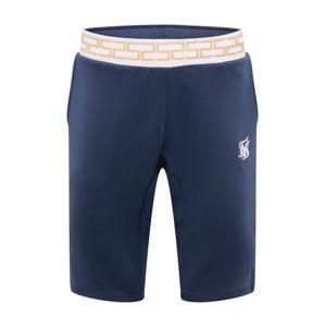 SikSilk Kalhoty  námořnická modř / bílá / zlatá