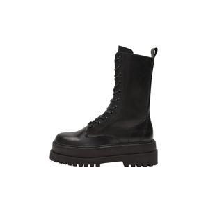 MANGO Šněrovací boty 'Monet'  černá