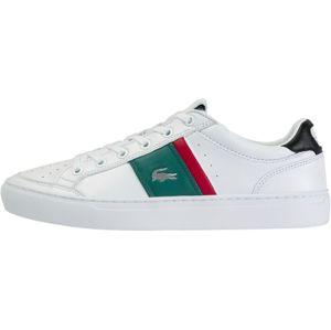 LACOSTE Tenisky 'Courtline'  bílá / černá / smaragdová / červená