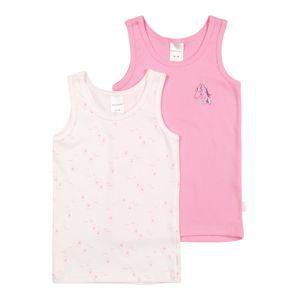 SCHIESSER Tílko  růžová / bílá