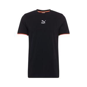 PUMA Funkční tričko  černá / červená