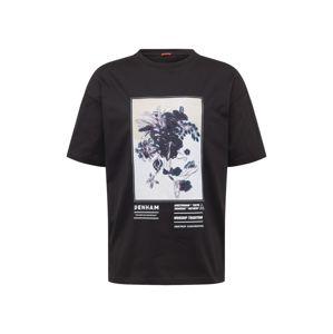 DENHAM Tričko 'WILLOW'  černá / bílá