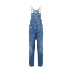 Calvin Klein Jeans Laclové kalhoty 'ICONIC DUNGAREE'  modrá džínovina