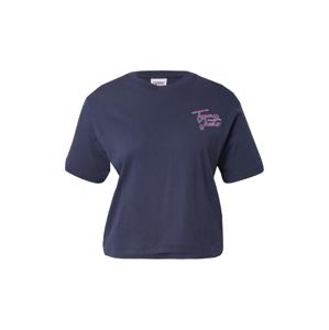 Tommy Jeans Tričko  námořnická modř / tyrkysová / růže