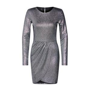 ONLY Koktejlové šaty 'ALESSA'  černá / stříbrná