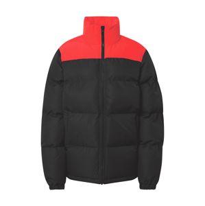 CONVERSE Zimní bunda  černá / červená