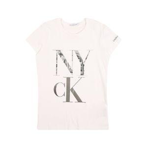 Calvin Klein Jeans Tričko  bílá / černá / šedá / kouřově šedá