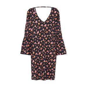 Noisy may Šaty  oranžová / pink / černá