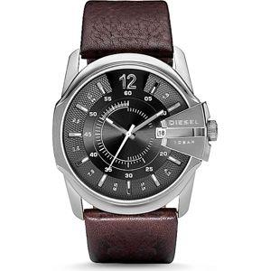 DIESEL Analogové hodinky 'MASTER CHIEF'  tmavě hnědá / černá / stříbrná
