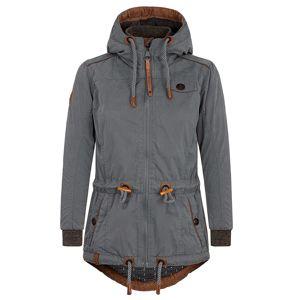Naketano Zimní bunda 'The Magic Stick Pimmel'  kouřově šedá