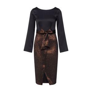 Closet London Šaty  růžově zlatá / černá
