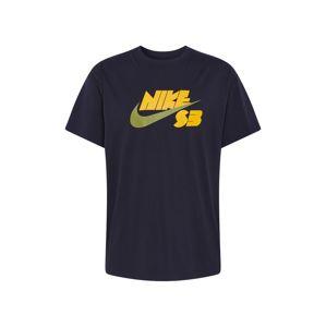 Nike SB Tričko  černá / žlutá / zelená