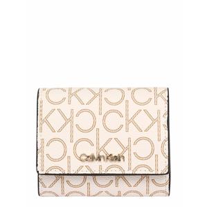 Calvin Klein Peněženka 'TRIFOLD'  krémová / hnědá