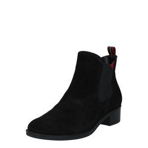 ARA Chelsea boty  černá / červená