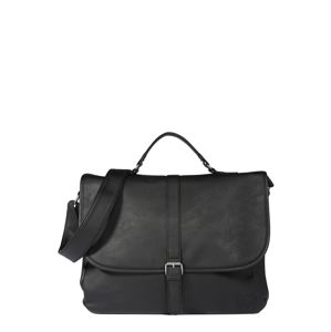 BURTON MENSWEAR LONDON Messenger 'BLACK PU MESSENGER  '  černá