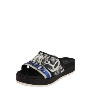 MJUS Pantofle  šedá / černá / modrá