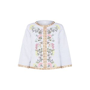 Rich & Royal Blejzr 'Embroidered Jacket'  modrá / mix barev / bílá