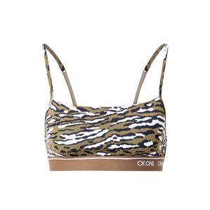 Calvin Klein Underwear Podprsenka  černá / bílá / olivová