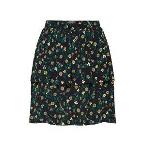 Minimum Sukně 'Laylo'  žlutá / tmavě zelená / černá