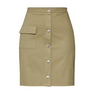 Boohoo Sukně 'Utility Button Through'  khaki