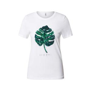 ONLY Tričko 'Kita'  bílá / zelená