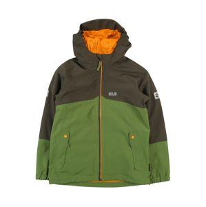 JACK WOLFSKIN Funkční bunda 'B ICELAND 3IN1 JKT'  černá / zelená