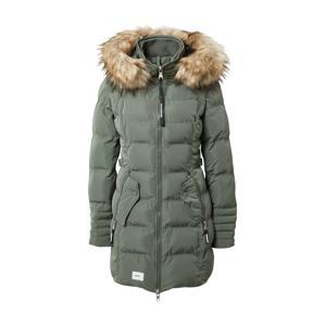 khujo Zimní kabát 'Amaray'  zelená / béžová
