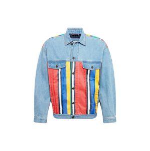 Tommy Jeans Přechodná bunda  modrá džínovina / mix barev