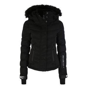 Superdry Snow Outdoorová bunda 'LUXE SNOW PUFFER'  černá